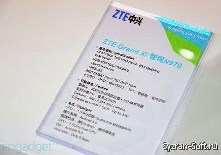 Появились подробности о смартфонах ZTE Grand X и Grand X LTE