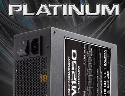 Мощность блока питания Zalman ZM1250 Platinum равна 1250 Вт