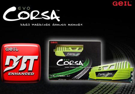 В ассортимент GeIL входят наборы модулей памяти Evo Corsa DDR3-2400 и DDR3-2666