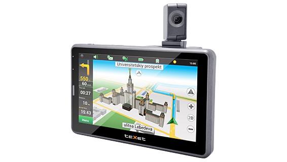 Навигатор с поворотной камерой — teXet TN-525HD DVR
