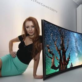 На выставке CES 2013 компания Samsung продемонстрировала изогнутый телевизор