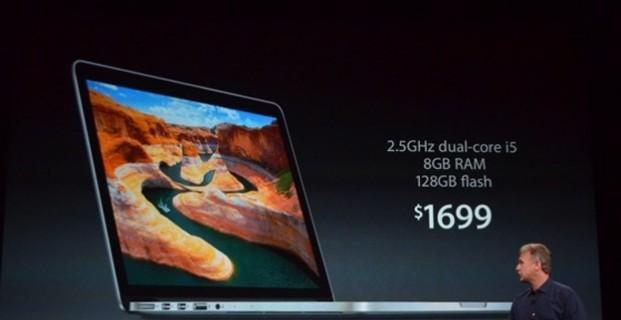 Ноутбук MacBook Pro имеет улучшенное железо и доступную цену