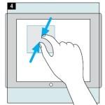 использование жестов в Windows 8
