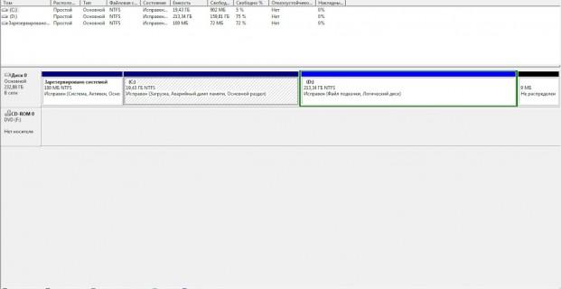 Переместить файл подкачки на другой диск
