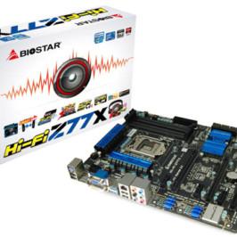 В системной плате Hi-Fi Z77X BIOSTAR особое внимание уделяет звуку