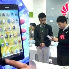 """Смартфон Huawei Ascend Mate с 6,1"""" экраном засветился в Гуанчжоу"""