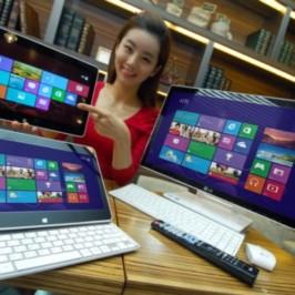 Компания LG представила моноблок и большой планшет-слайдер под Windows 8