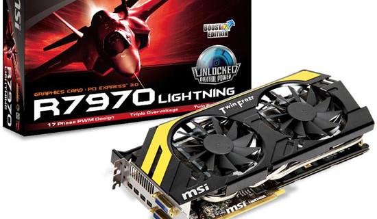 Официально представлена видеокарта MSI R7970 Lightning Boost Edition