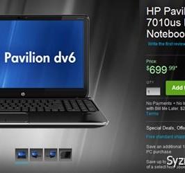 HP приступает к продаже ноутбука Pavilion dv6-7010us, укомплектованного APU AMD Trinity